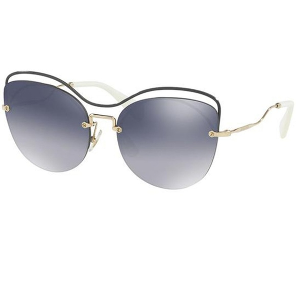 3e53b1bd043b Miu Miu Sunglasses Blue w Light Grey Blue Lens